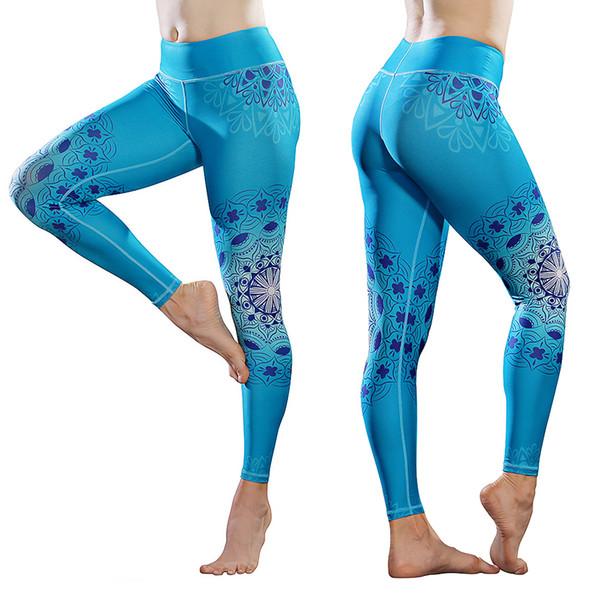 Acheter Vêtements De Plein Air Pantalons De Yoga Imprimés Pour Les Femmes Fitness Wear Taille Haute Ultrasoft Active Legging Stretch Dans Full Length