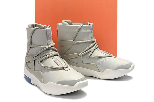 Athletic Big Kids Boys' Girls' Air Fear of God 1 Light Bone Youth Basketball Shoes High Quality Black Grade School Sneakers