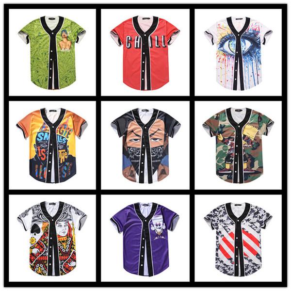 2019 Half Sleeve Baseball Wear Men's Lovers Hip-hop Loose Top Street Wear Clothing Casual Creative Design Cardigan Wholesale Wholesale