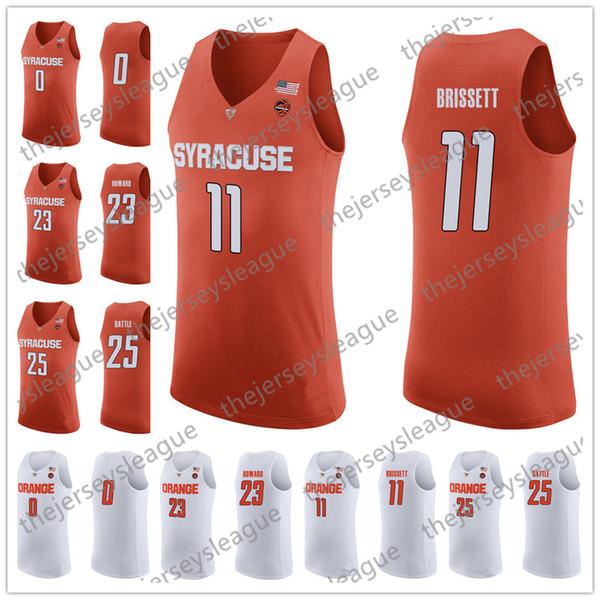 Syracuse Orange #11 Oshae Brissett 13 Paschal Chukwu 21 Marek Dolezaj White Good Quality Stitched NCAA College Hot Sale Basketball Jerseys