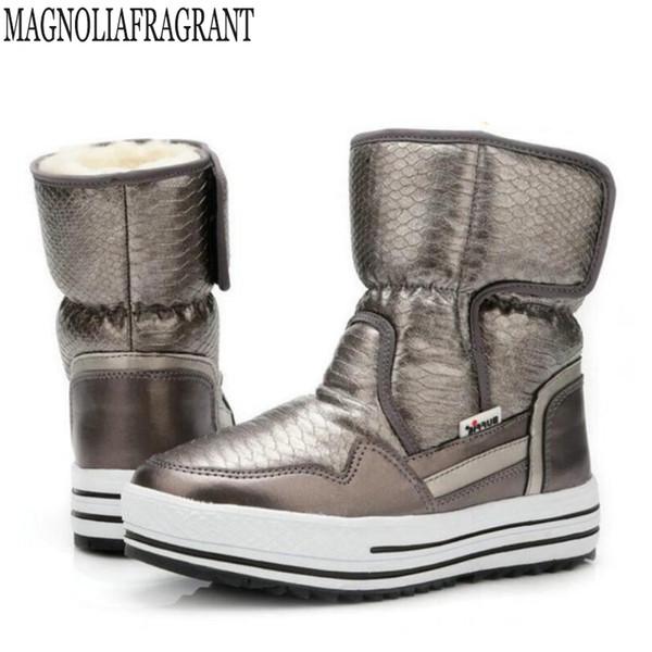 Nouveau hiver Bottes femme chaussures femme fourrure chaude résistant à l'eau supérieure plus la taille mode anti-dérapant semelle neige botte bottines c225