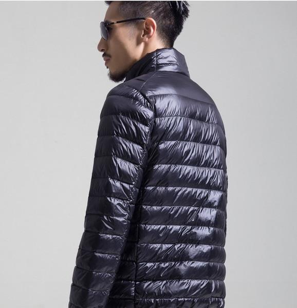 Designer Mens Vers Le Bas Veste Mens Couleur Unie Mince Col Montant Vestes D'hiver 2019 Haute Qualité Garder Au Chaud Mens De Luxe Outwear Vers Le Bas Manteau