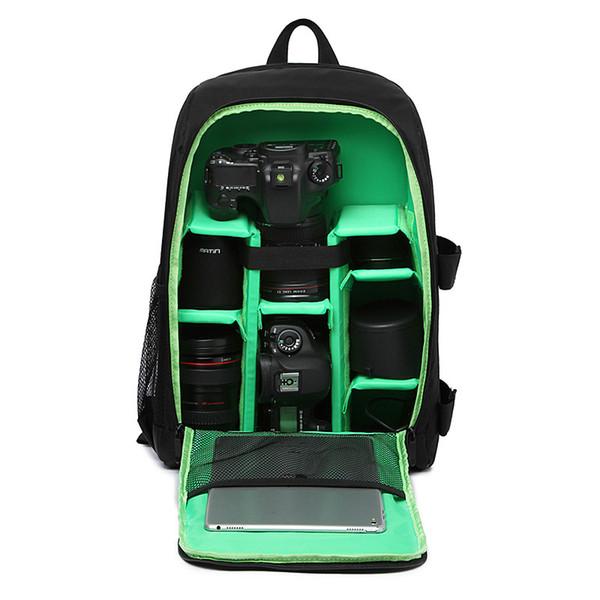 "dslr backpack Upgrade Waterproof Digital DSLR Photo Padded Backpack w/ Rain Cover Laptop 15.6\"" Multi-functional Camera Soft Bag Video Case"