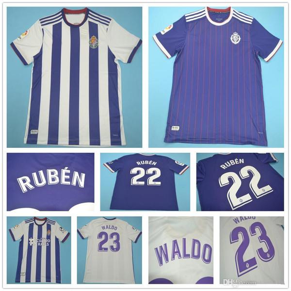2019 2020 Real Valladolid Soccer Jerseys 19 TONI VILLA 22 RUBEN 23 19 20 WALDO personnalisé Domicile Extérieur Adulte Football Enfants Jeunes Chemise