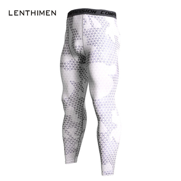 2018 Mens Leggings White Compression Pants Men Elastic Crossfit GYMS Pants MMA Fitness Compression Tights Joggers Men Sweatpants