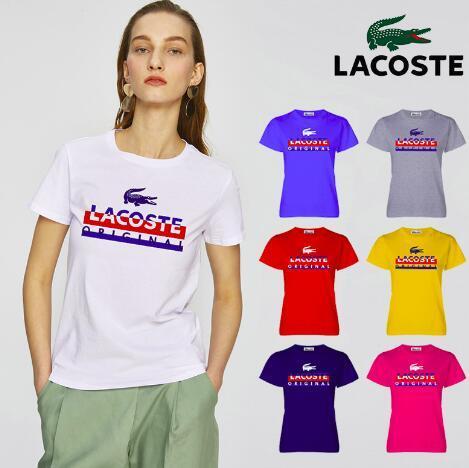 2018 tos women Hochwertige Baumwolle Marken letter Print tee casual style für sport casual style für sport Frauen Polos S-XL