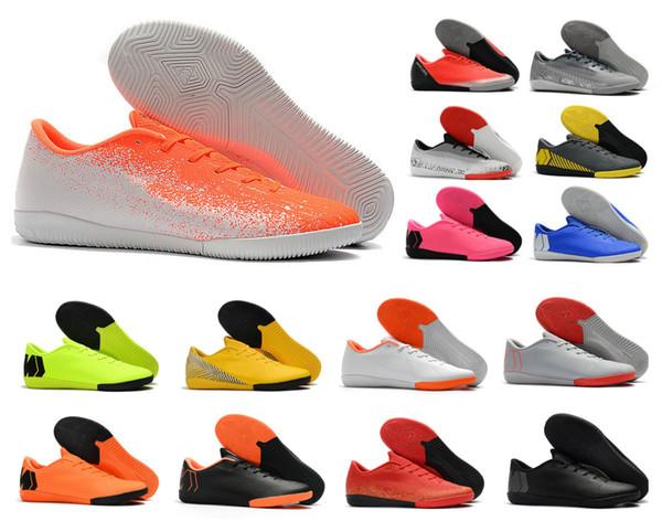 Hot Mercurial VaporX XII Academy IC Turf Indoor Mens CR7 Cristiano Ronaldo Neymar Soccer Football Shoes Cleats Boots Size 39-45