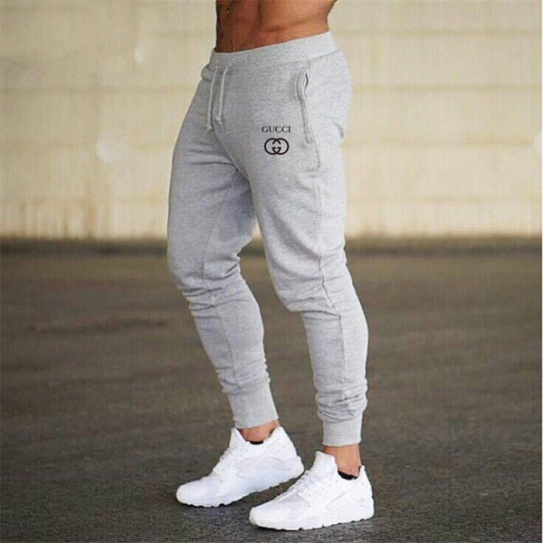 best selling designer joggers luxury pants shorts Fitness Men Sportswear Tracksuit Bottoms Skinny Sweatpants Trousers Black Gyms Jogger Track Pants