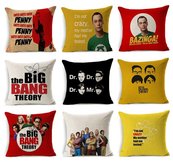 the Big Bang Theory Cushion Covers Sheldon Cooper Leonard Howard Wolowitz That's My Spot Beige Linen Pillow Case 45X45cm