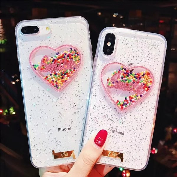 Glue Apple Xr Bead Love Hand Shell Iphone7p Ice Cream Shell Woman 6s Lovely Defence Broken Shell Apply