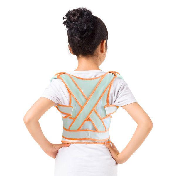 Fashion 1 pcs Posture Corrector Magnetic Back Support Belt Black Tourmaline Lumbar Belt Brace for Child Student Adult