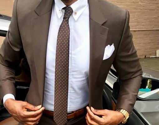 WL 2019 New Brown Men Suit Slim Fit Elegant Tuxedos Wedding Business Party Dress Summer Jacket And Pants