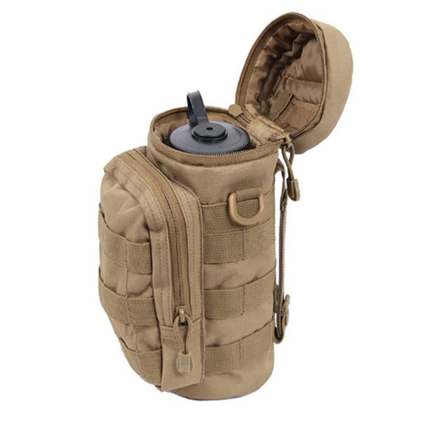 THE SEVENTH CONTINENT Outdoors Molle Water Bottle Pouch Tactical Gear Kettle Waist Shoulder Bag Climbing Camping Hiking Bags