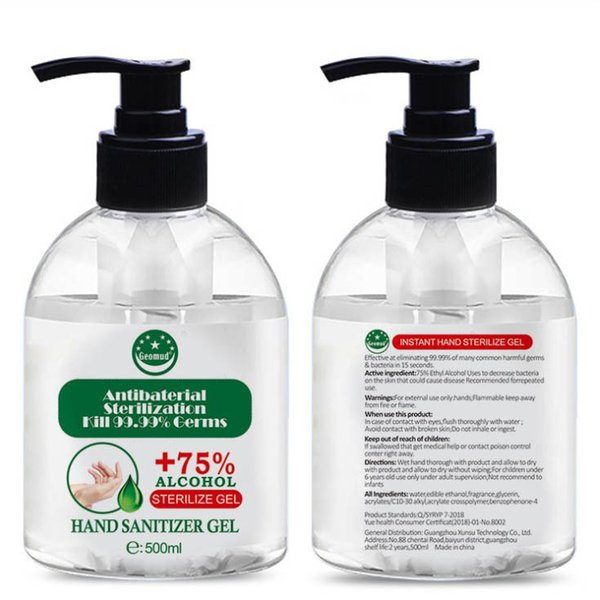 top popular New stock! Kills 99.99% hand sanitizer Bacteriostatic Disposable Antibaterial sterilization Gel probable 50ml 100ml 500ml DHL free shipping 2021