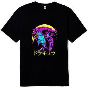 New Castlevania Dracula Retro Game Anime Mens BlaPrint T-Shirt Größen S bis 3XL