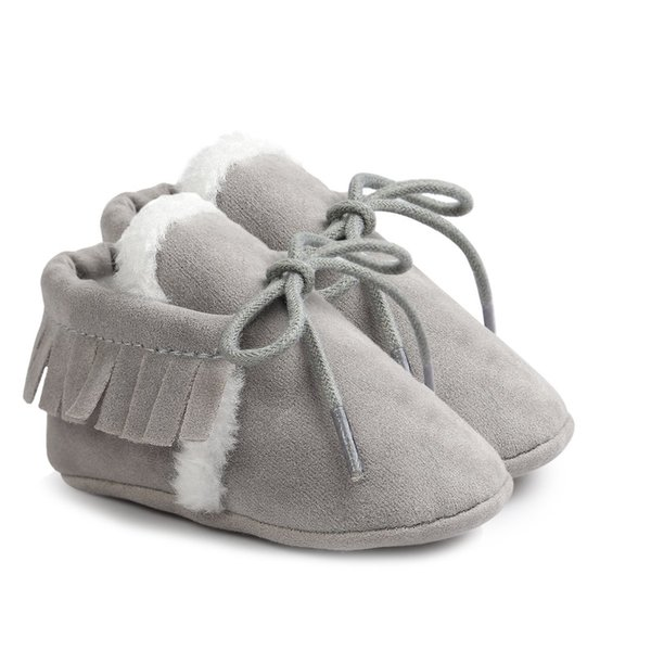 First Walking Soft Sole Leather Baby Infant Girl Crib Kid Shoes PawBeige 12-18M