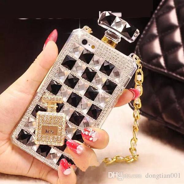 Cas de téléphone de diamant pour le nouveau cas de TPU de l'iPhone XR XS MAX 8 Plus 5 / 5S 6 / 6S 6PLUS Couverture claire