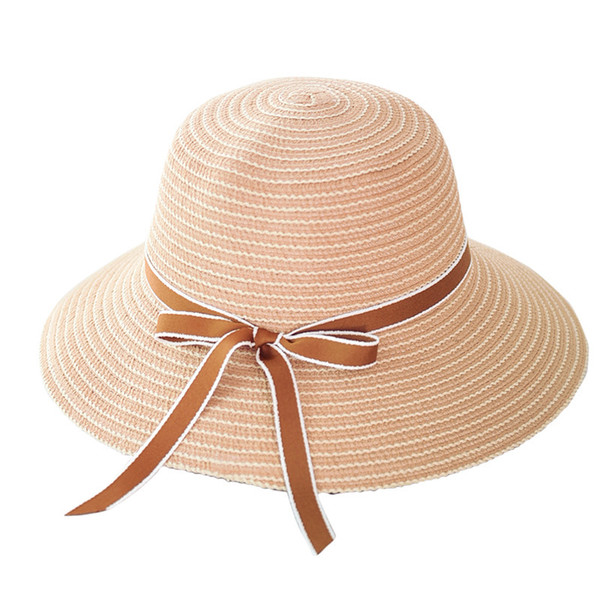Fashion Beach Hats for Women Summer Straw Cap Flower Sun Visor Hat Girls Travel Hats Natural Wide Brim Fisherman Sunhat