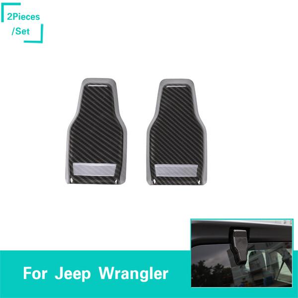 2pcs Fibre de carbone ABS Miroir Cap Trim pour Jeep Wrangler JL 2018