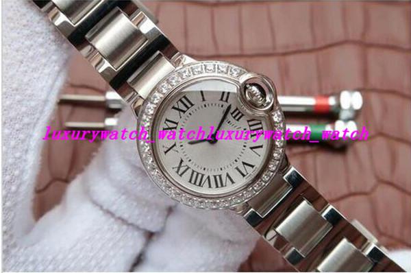 Montres de luxe en acier inoxydable Bracelet Les meilleures montres de femmes 28.5mm automatique Lady Watch Montres Unique Watch