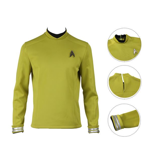 Капитан костюм Star Trek Beyond Косплей Кирк Зеленый цвет
