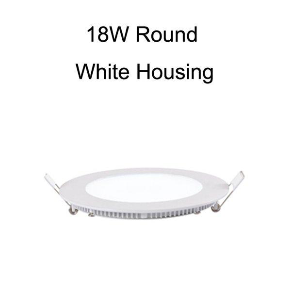 18W Round White Housing