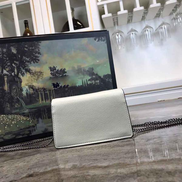 17 cm Top Original Leder Neueste Neue Super Nette Mini Kette Tasche Frauen Designer G Hot Crossbody Kleine Taschen 1208