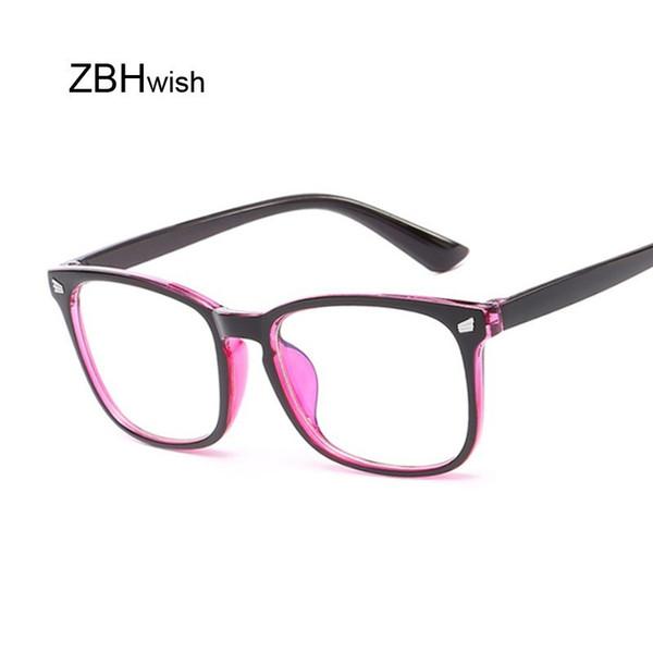 Оправы Фиолетовый Spectacle кадров площади очки кадров прозрачные линзы Женщины Марка очки Прозрачные Храмов для очков