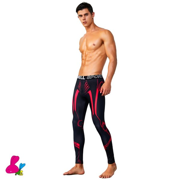 men compression pants sports running tights jogging soccer basketball leggings fitness gym clothing trousers shorts bodybuilding