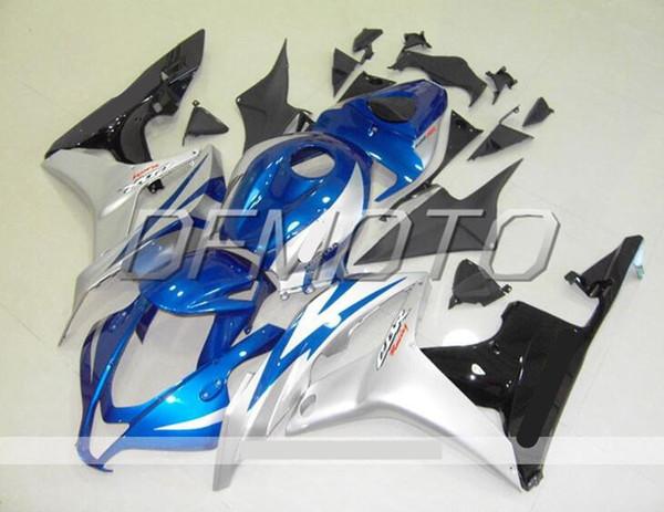 New Injection Mold ABS motorcycle bike Fairings Kits Fit For HONDA CBR600RR F5 2007 2008 07 08 body set custom bikes Fairing blue silver