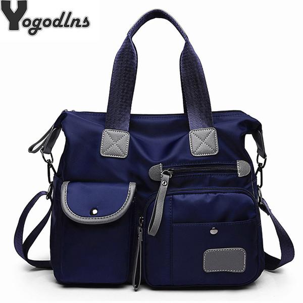 Multifunktions Gepäck Handtaschen Für Frauen Große Tasche Casual Tote Nylon Wasserdichte Crossbody Umhängetaschen Totes Bolsa Feminina Y190620