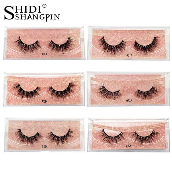 top popular Real Mink Curled Eyelashes 1 Pair Set Natural European and American False Eyelashes 2020