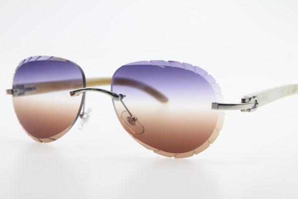 Silver purple Brown Lens