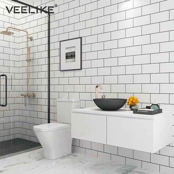 Waterproof DIY PVC Self Adhesive Wallpaper For Kitchen Backsplash Tile  Bathroom Living Room Bedroom Home Decor Wall Paper Beautiful Wallpapers  Bedroom ...