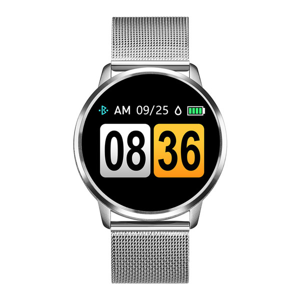 top popular Q8 Smart Watch OLED Color Screen Smartwatch women Fashion Fitness Tracker Heart Rate monitor 2020