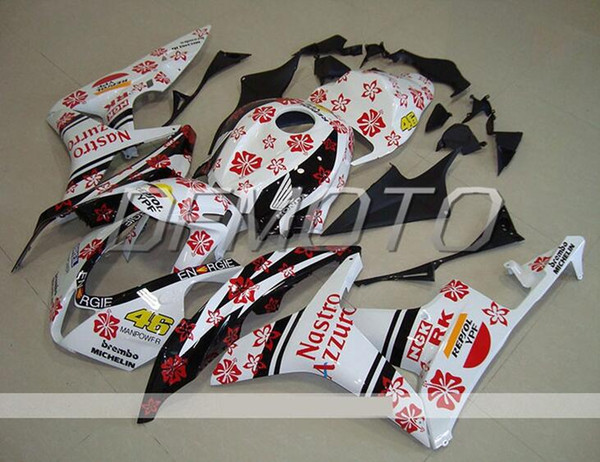 New Injection Mold ABS motorcycle bike Fairings Kits Fit For HONDA CBR600RR F5 2007 2008 07 08 body set custom bikes Fairing white red 46