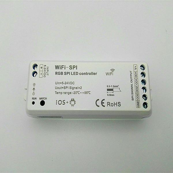 DC5V-24V RGB-SPI-WLAN-SPI-LED-Pixelstreifen-Controller-Unterstützung WS2811 WS2812B TM1809 TM1812 LPD6803 WS2801 UCS1903 TLS3001 IC