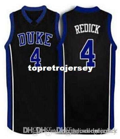 Factory Outlet #4 JJ Redick Duke Blue Devils blue white black Basketball Jersey vest T-shirt Stitched Jerseys Customized Any Name And Number