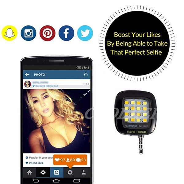 COOLJIER USB charge Mini Selfie Ring Light LED Flash For iPhone 5 6s Plus Portable Night Darkness Enhancing Camera Selfie Light