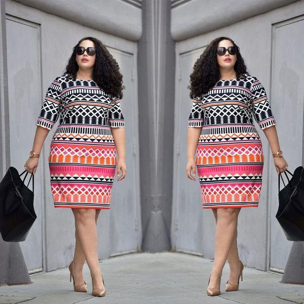 Uk Women Lady Bodycon Dresses Plus Ladies Clothing Party Dress Big Size 10-22 C19040301