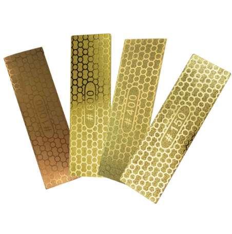 Tragbare ultradünne Diamant Schärfstein 100 * 30 * 1,2mm Wabenoberfläche Schleifstein Messerschärfer Küchenschleifwerkzeug
