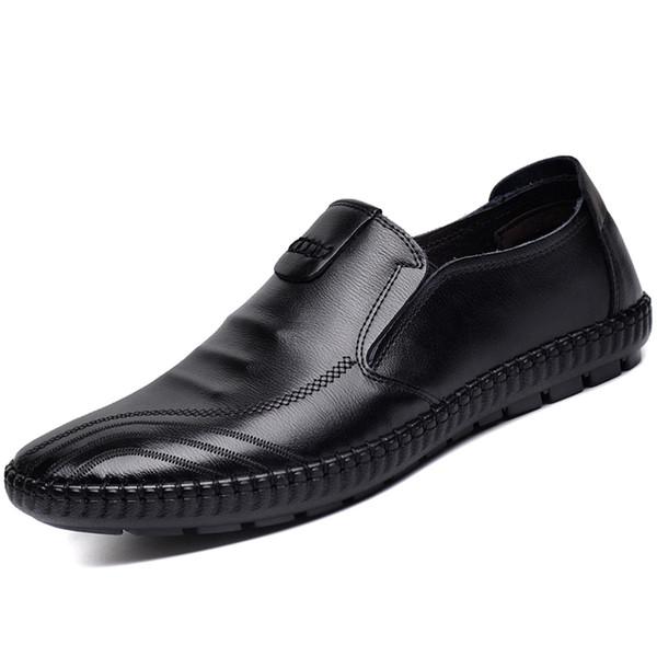 size0158 Recién llegado Zapatos de boda y fiesta Nuevos zapatos de cuero de moda para hombres Mocasines para hombre Mocasines Zapatos de marca bordado de moda para cuero