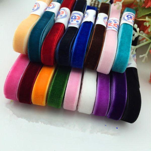 "10 yard/lot 3/8 ""Sparkle nylon single faced velvet ribbon webbing headband Hair band accessories white fabric10MM"