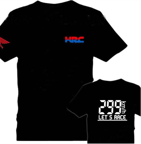2019 Marca Moto Hrc Motocicleta Modificado T-shirt Equipe de Manga Curta T-shirt Hrc Imprimir Tshirt Casual T Shirt Dos Homens Vy