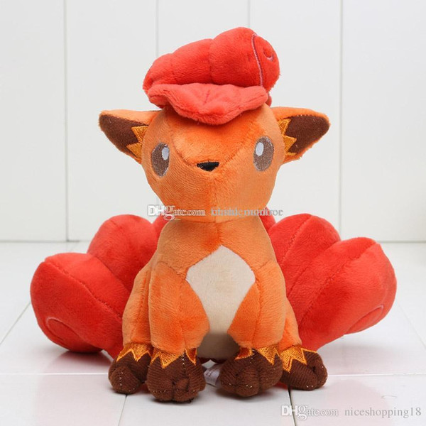 low price High quality poket center Pikachu Vulpix Plush Doll Stuffed Soft Toy Vulpix good kids gift size in 16cm free shipping t497
