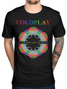 Hino Coldplay para o Fim de Semana Mens Moda BlaDesign Tour T Shirt Tee