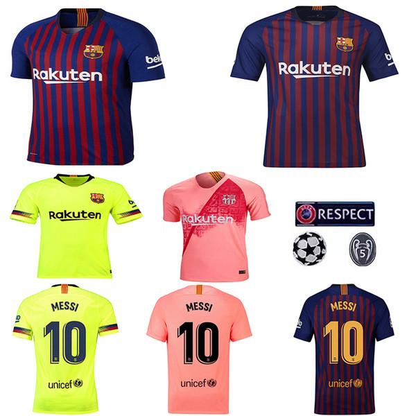 b07e2d2ef8a 2018 19 Barcelona VIDAL SUAREZ O.DEMBELE Jerseys Camisas Coutinho Messi  INIESTA PIQUE Soccer Jersey