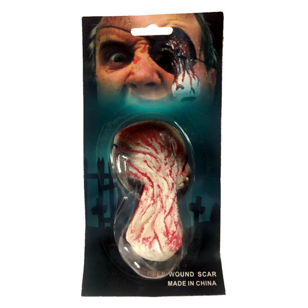 DIY Scary Mask Scar sticker Makeup Costume Horror Halloween Masks Bloody Parasite Vampire terror realista realistic Party Mask