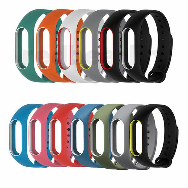 Doppio colore mi banda 2 accessori pulseira miband 2 cinturino in silicone di ricambio per cinturino per smart bracciale xiaomi mi2