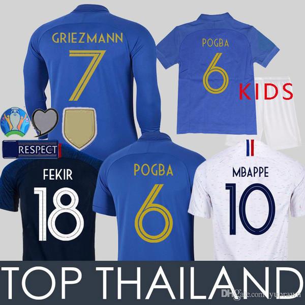 Maillot de Foot 2019 100th Anniversary Blue Kids Long Sleeve soccer Jersey Football Shirt Uniforms Kits Camisas de Futebol Camisetas